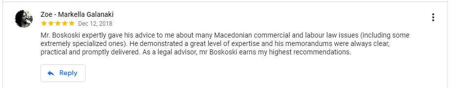 Lawyer Review North Macedonia